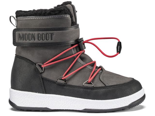 Moon Boot WP Talvikengät Pojat, black/castlerock